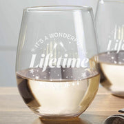 It's a Wonderful Lifetime Stemless Wine Glasses - Set of 2