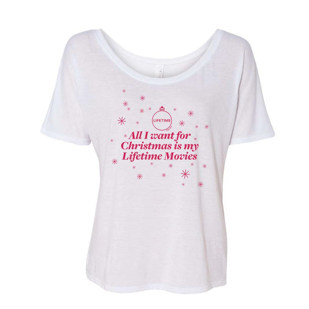 Lifetime All I Want for Christmas is My Lifetime Movies Women's Relaxed T-Shirt