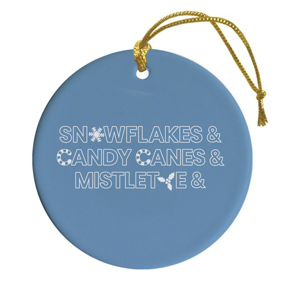 Lifetime Holiday Ampersand Double-Sided Ornament