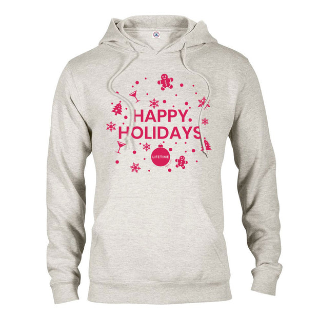 Lifetime Happy Holidays Fleece Hooded Sweatshirt