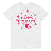 Lifetime Happy Holidays Adult Short Sleeve T-Shirt