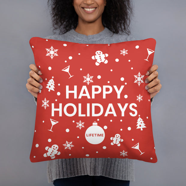 Lifetime Happy Holidays Pillow