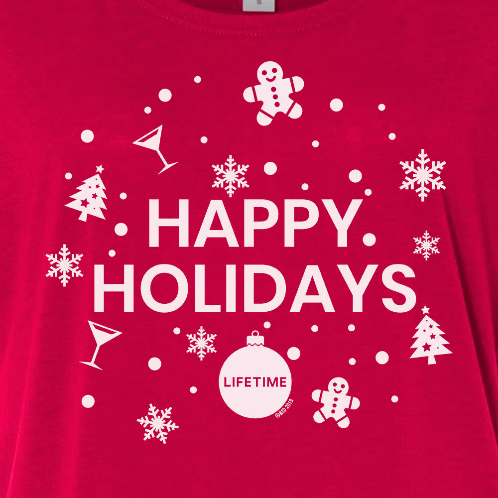 Lifetime Happy Holidays Women's Relaxed T-Shirt