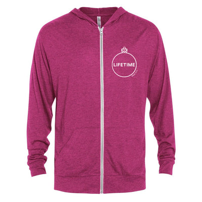 Lifetime Happy Holidays Tri-Blend Zip-Up Hooded Sweatshirt