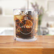 Lifetime Holiday Logo Rocks Glasses- Set of 2