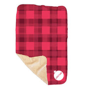 Lifetime Holiday Logo Sherpa Blanket
