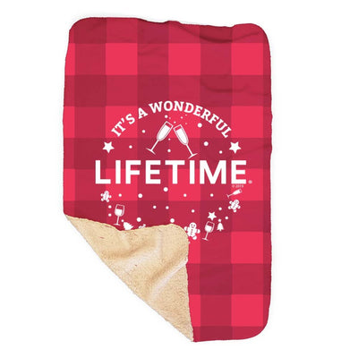 Lifetime It's a Wonderful Lifetime Sherpa Blanket