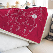 Lifetime Holiday Cheer Sherpa Blanket