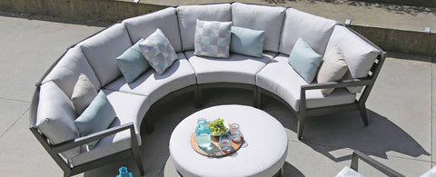 The Lucia Curve Sectional by Ratana Wicker Land Patio