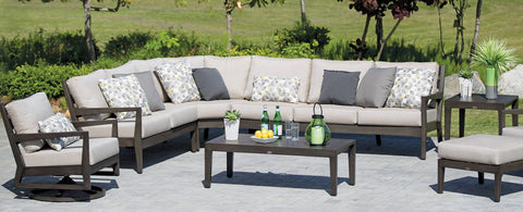 The Lucia Sectional by Ratana Wicker Land Patio