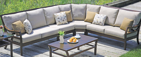 The Madison Sectional by Ratana Wicker Land Patio