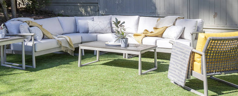 The Park West Sectional by Ratana Wicker Land Patio