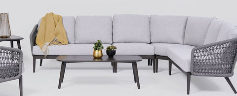The Poinciana Sectional by Ratana Wicker Land Patio