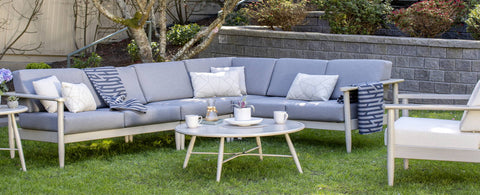 The Polanco Sectional by Ratana Wicker Land Patio
