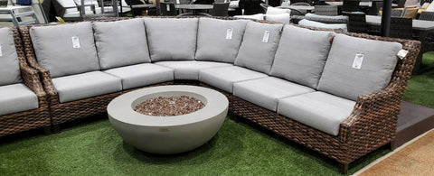 The Whidbey Island Sectional by Ratana Wicker Land Patio