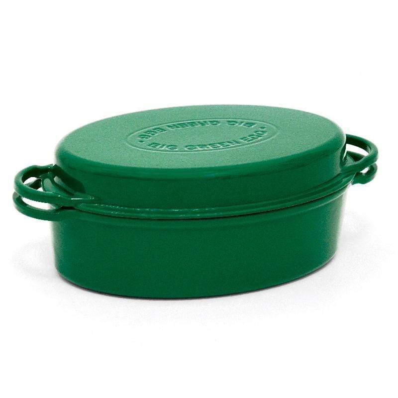 Big Green Egg Barbeque Casserole Dish w/ Lid (5.5 qt) - Dutch Oven – Enameled Cast Iron