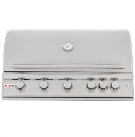 "Blaze Outdoor Products Barbecue 40"" 5 Burner with Red knob lights and interior lights LP/NG"