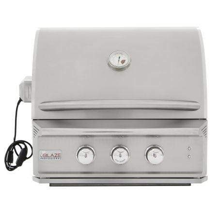 Blaze Outdoor Products Barbecue BLAZE PROFESSIONAL 27-INCH 2 BURNER BUILT-IN GAS GRILL WITH REAR INFRARED BURNER