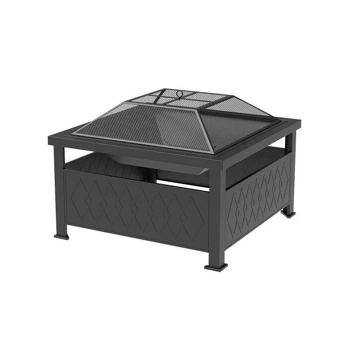 "BYL Heaters & Fire Tables 34"" Square Fire Pit"