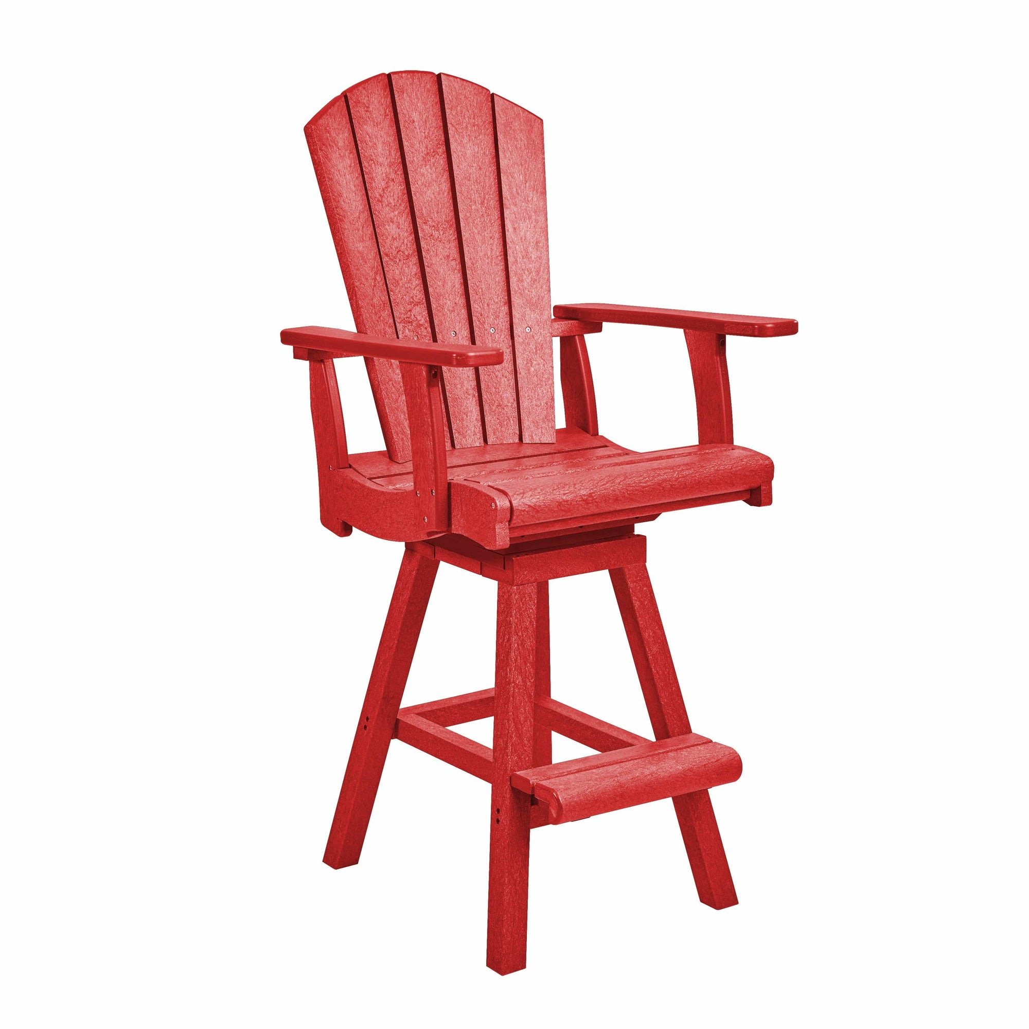 C.R. Plastic Products Bar Chair Red-01 C25 Swivel Pub Chair (Best Seller)