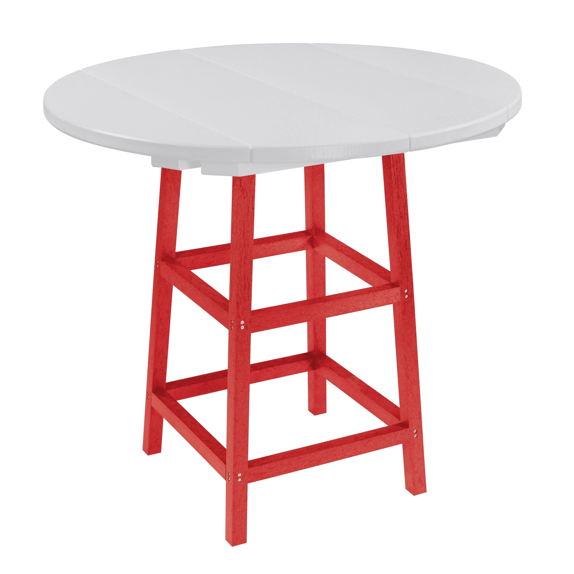 "C.R. Plastic Products Dining Table Red-01 TB03 40"" Pub Table Legs"
