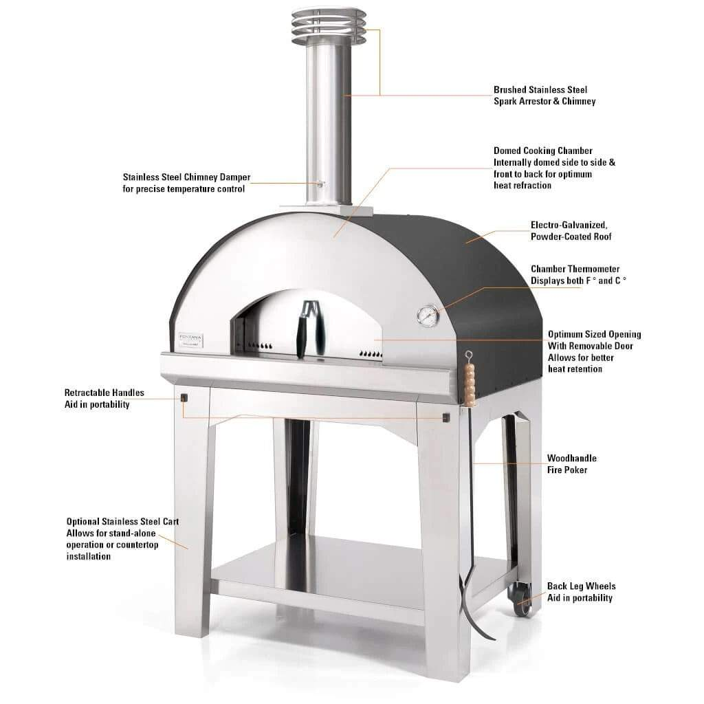 Fontana Pizza Oven The Mangiafuoco Wood Fired Pizza Oven
