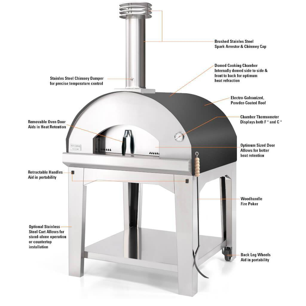 Fontana Pizza Oven The Marinara Wood Fired Home Oven