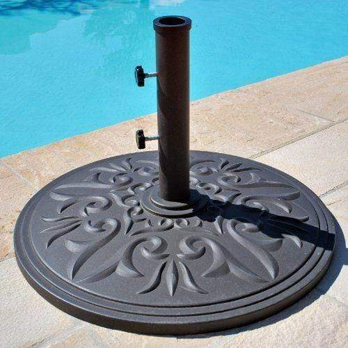Galtech Umbrella Bases Umbrella Base 75Lb Cast Iron Brown