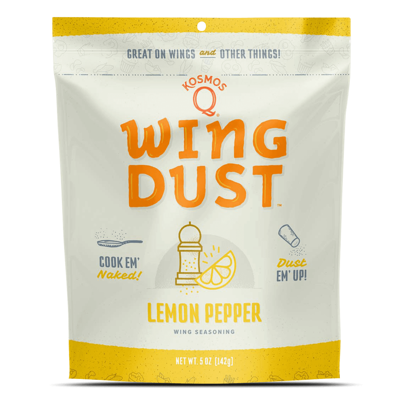 Kosmos Q BBQ Rub Wing Dust Lemon Pepper