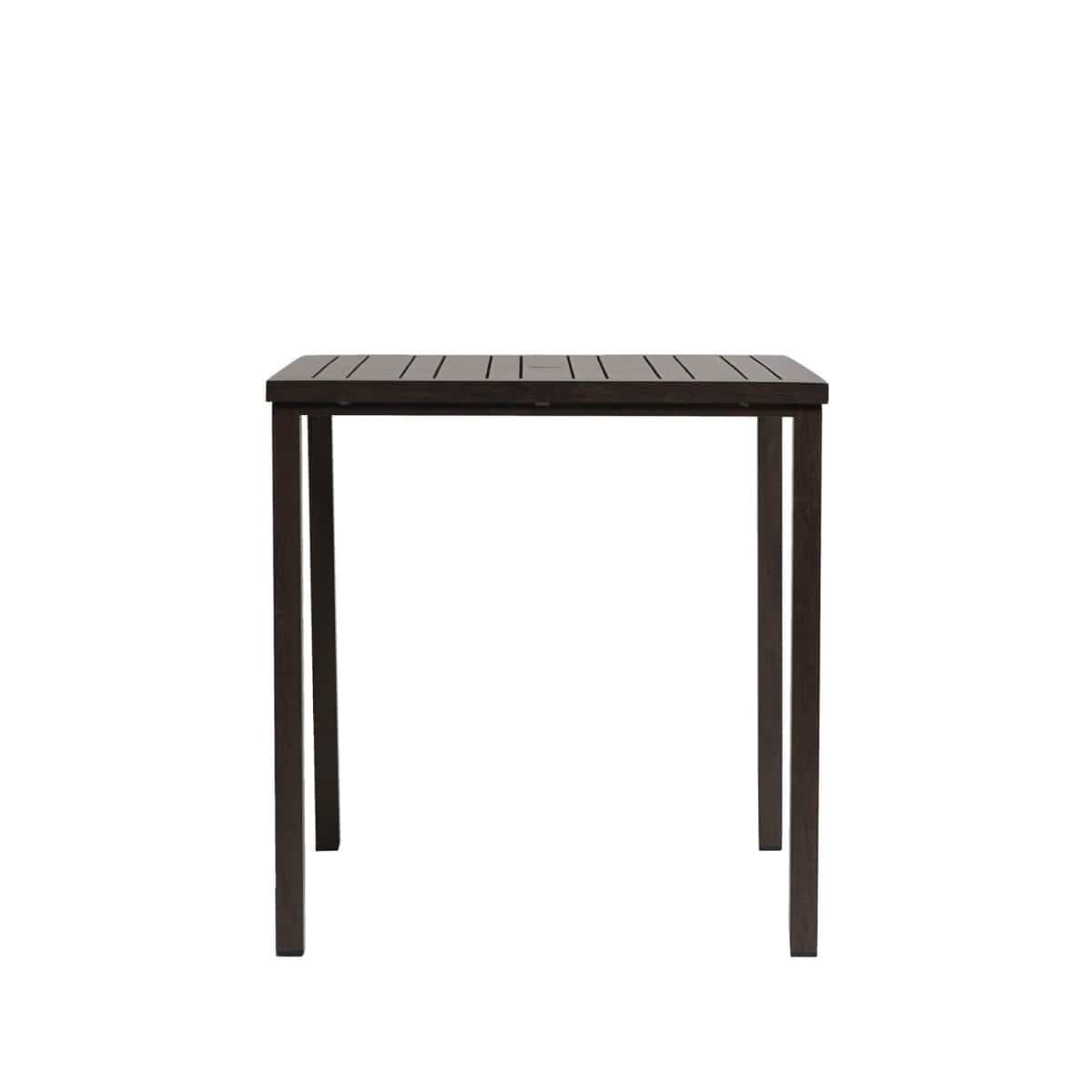 "Ratana Bar Table Canbria 39"" Square Bar Table w/Umbrella Hole"