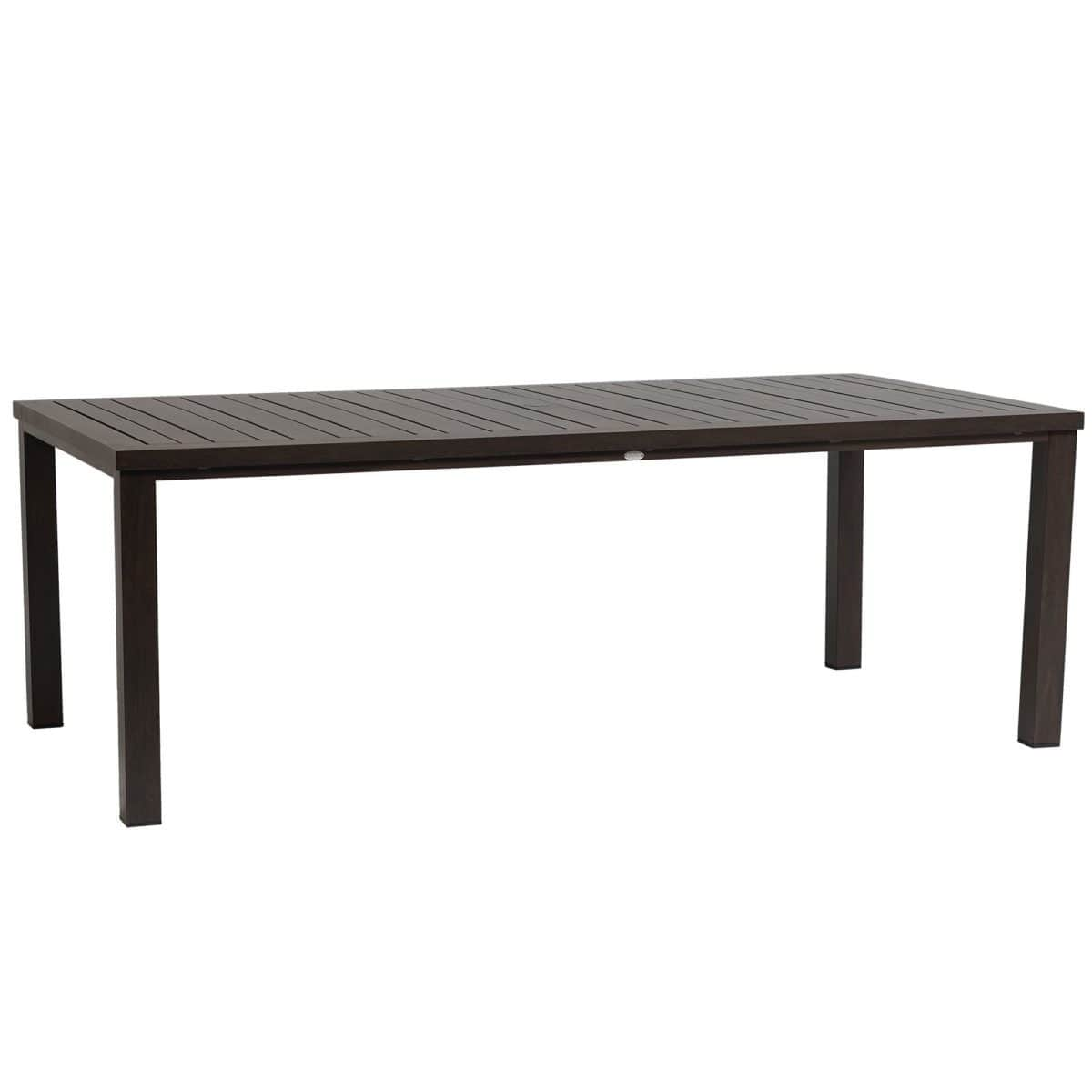 "Ratana Dining Table Canbria 84"" x 44"" Rectangle Dining Table w/Umbrella Hole"