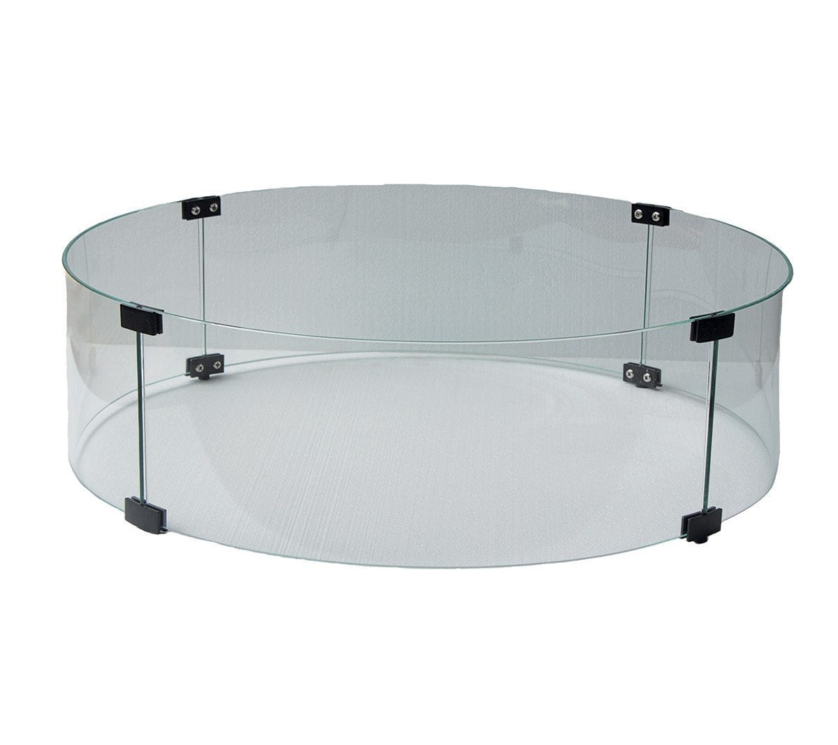 Ratana Fire Accessories Round Fire Pit Glass Windshield