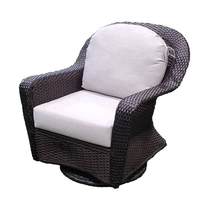 Ratana Furniture - Chairs Lewisburg Swivel Gliding Club Chair w/Sunbrella Fabric Options