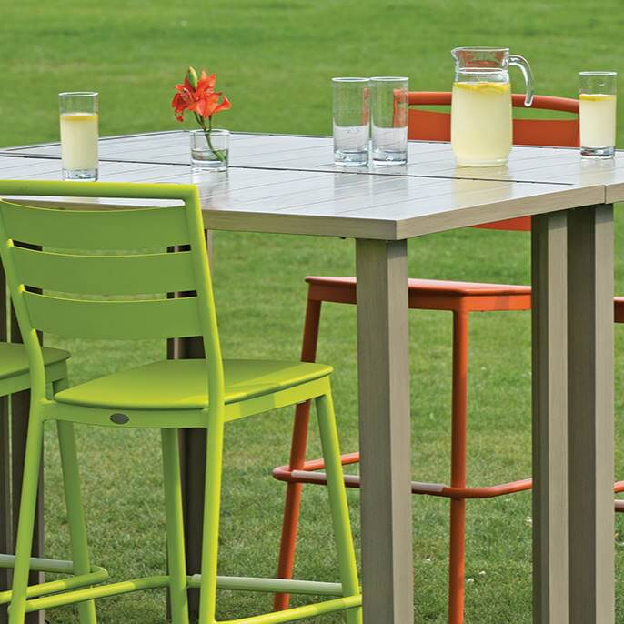 Ratana Furniture - Dining Ciara Stacking Side Chair - Green
