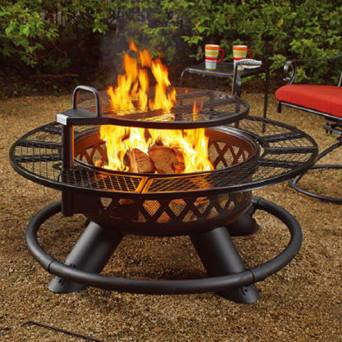 "Shinerich Heaters & Fire Tables Bighorn Fireplace | 47"" Fire Pit with Grill Function"