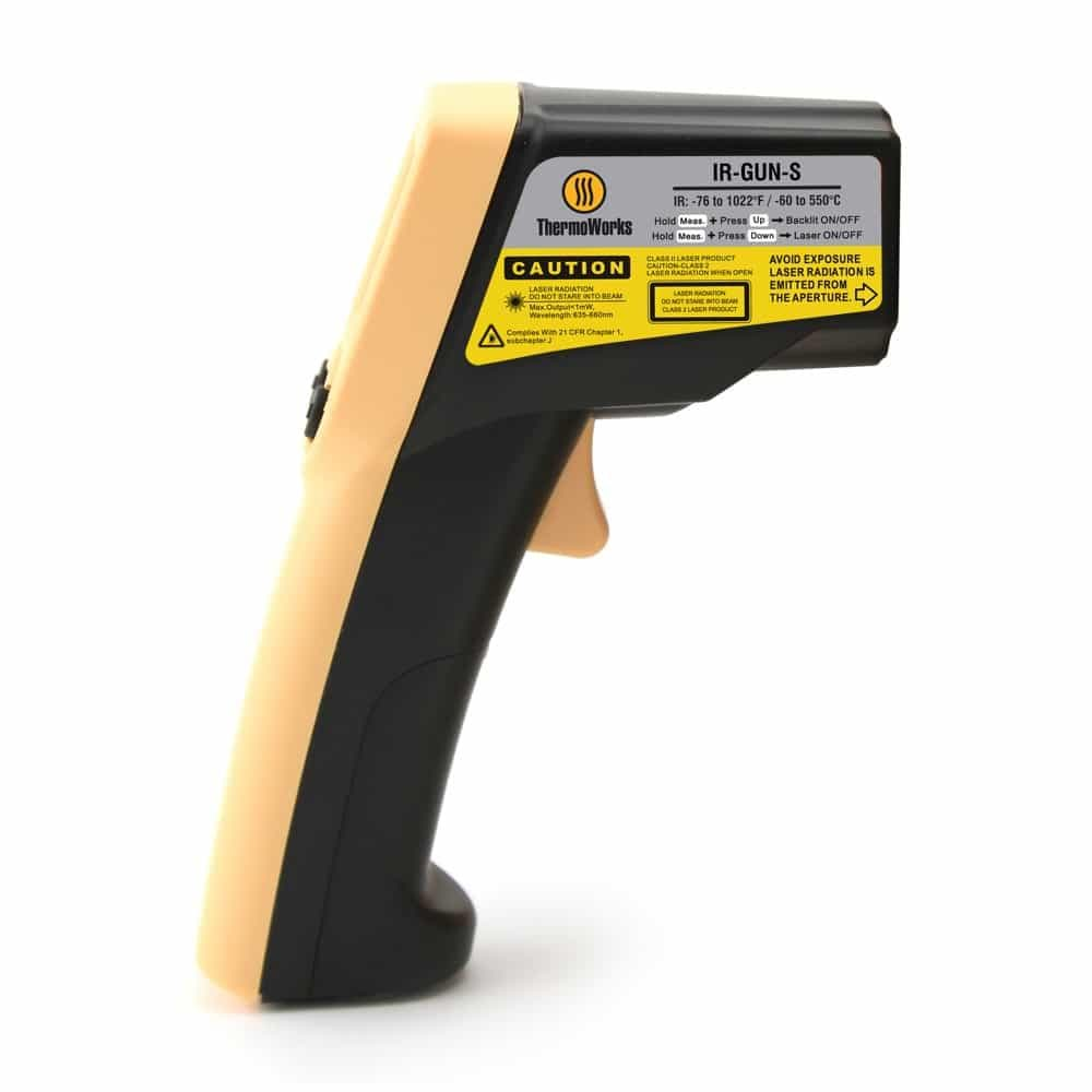 ThermoWorks Thermometer Industrial Infrared Thermometer IR-GUN-S
