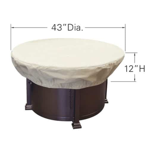 "Treasure Garden Weather Cover Fits 36"" to 42"" Round Fire Pit/Table/Ottoman - CP929"