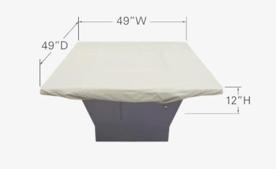 "Treasure Garden Weather Cover Fits 42"" to 48"" Square Fire Pit/Table/Ottoman - CP932"