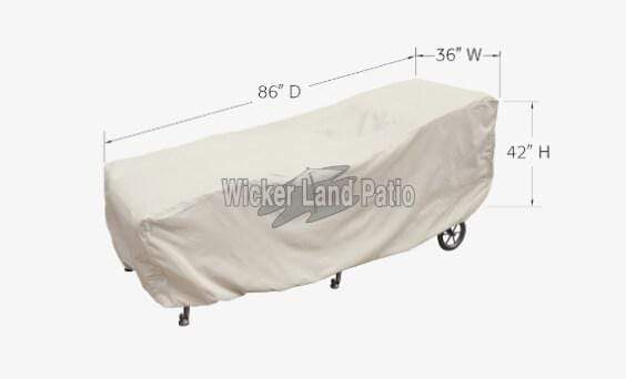 Treasure Garden Weather Cover Large Chaise - CP119L