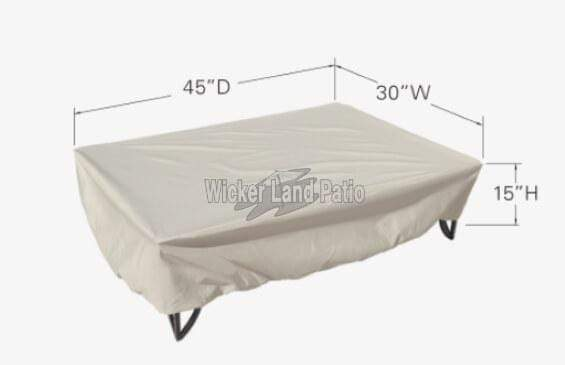 Treasure Garden Weather Cover Medium Rectangle Fire Pit/Table/Ottoman - CP923