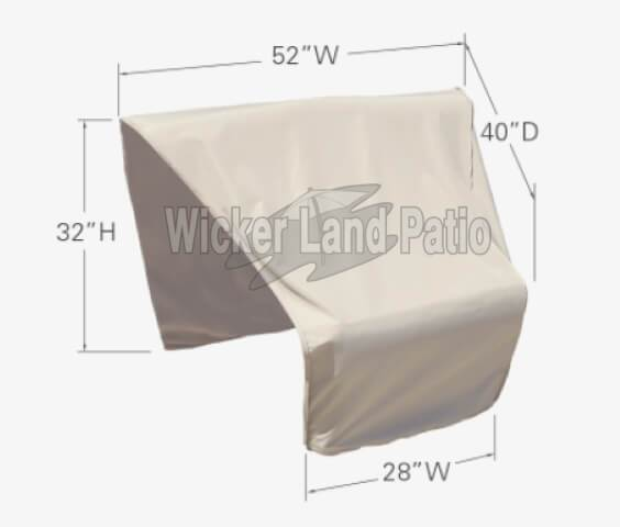 Treasure Garden Weather Cover Modular Corner Wedge Left End (Right Facing) - CP406-L
