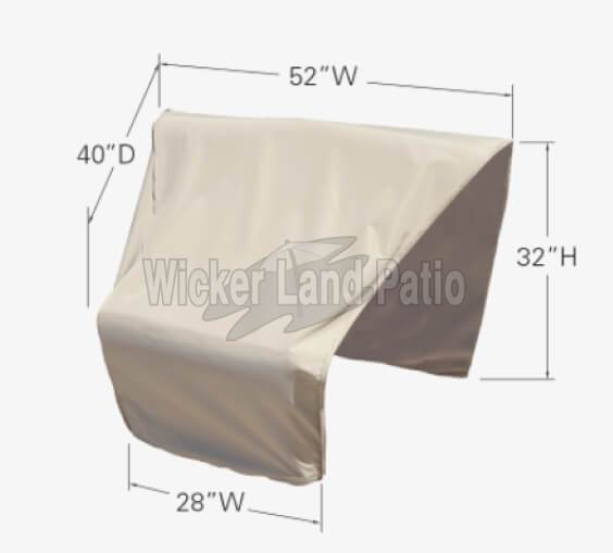 Treasure Garden Weather Cover Modular Corner Wedge Right End (Left Facing) - CP406-R