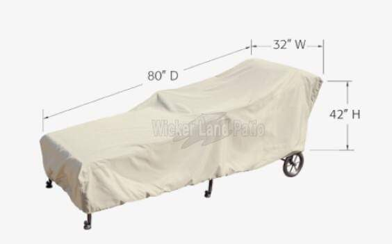 Treasure Garden Weather Cover Small Chaise - CP119S