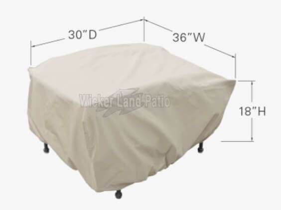 Treasure Garden Weather Cover Small Fire Pit/Table/Ottoman - CP938