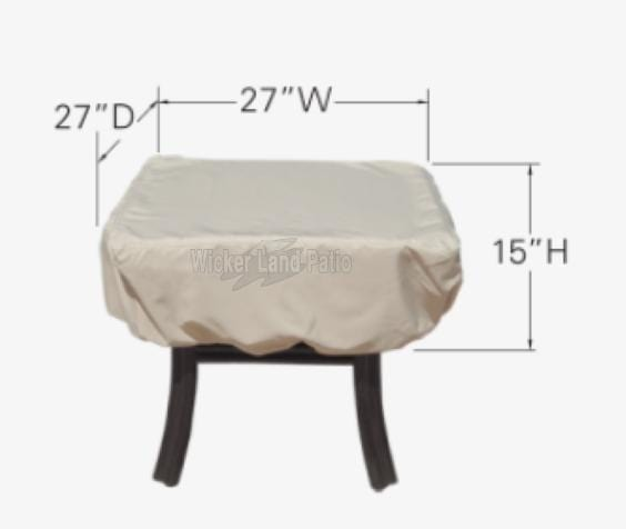 Treasure Garden Weather Cover Square Side Table - CP922