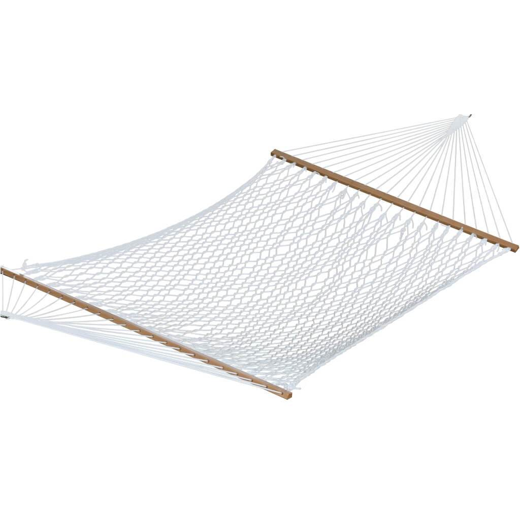 Vivere Hammocks Polyester Rope Hammock - Double (White)