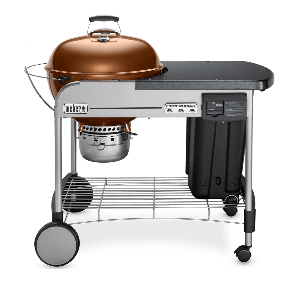 "Weber Weber Charcoal Grills Performer Deluxe Charcoal Grill 22"" Copper"