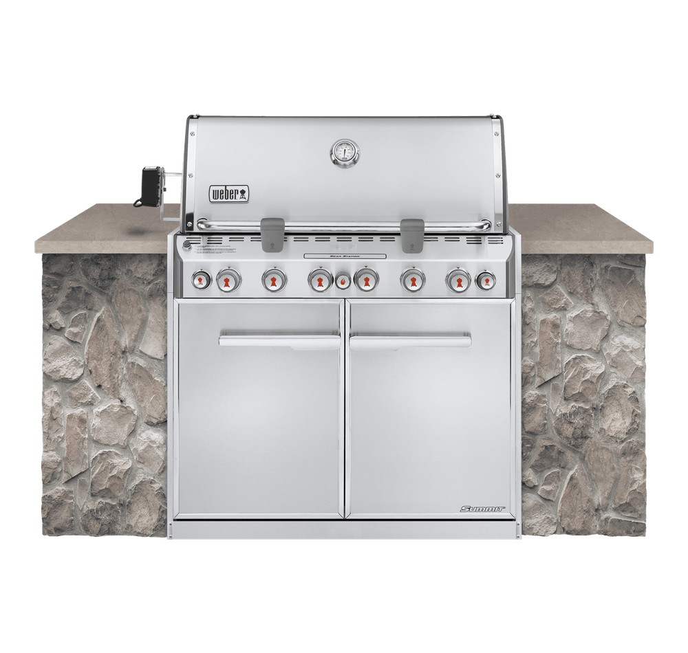 Weber Weber Gas Grills Summit S-660 Built-IN Gas Grill Stainless Steel NG - 7460001