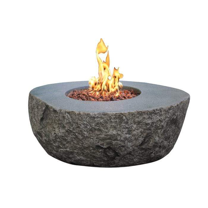 "Wicker Land Patio Fire Tables River Rock Oval 43"" x 35"" (NG)"