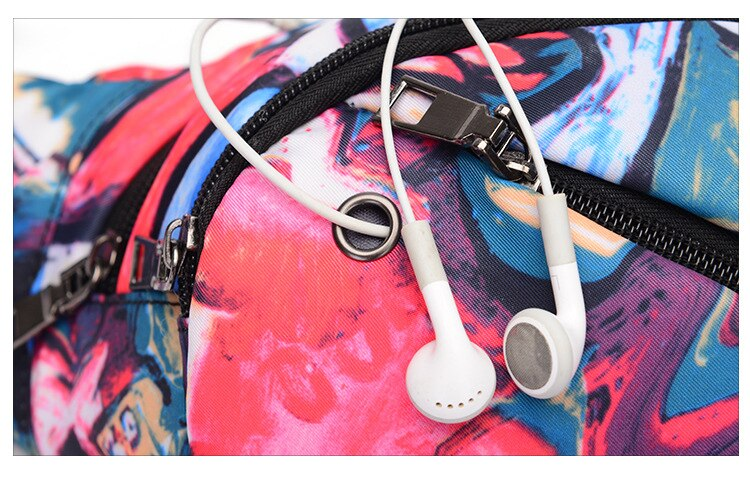 Multi-Pocket Fanny Pack w/ Headphone Jack (5 color options)